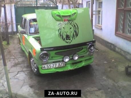 Тюнинг ваз 2101 зелёный лев яркий
